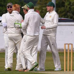 Blair Oakley takes a wicket