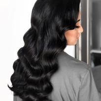 dark wavy hair