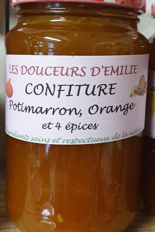 Confiture potimarron, orange et épices 410g