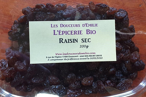 Raisins secs sultanine 200g