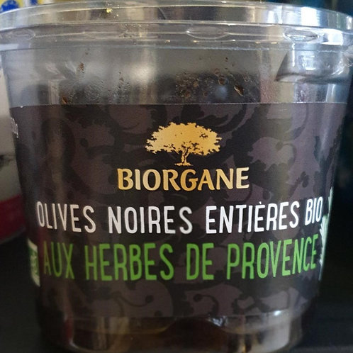 Olives noires entières aux herbes de Provence 250g