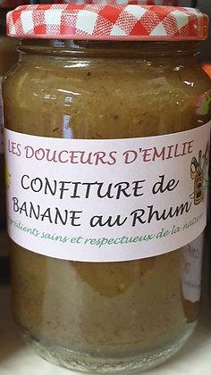 Confiture de banane au rhum 410g