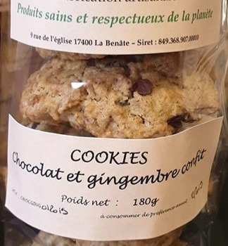 Cookies choco-gingembre