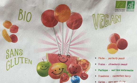 Sucette vegan divers parfums