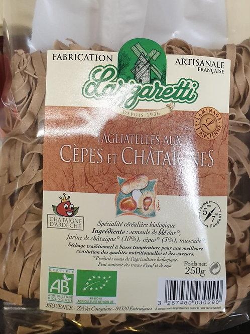 Tagliatelle aux Cèpes et Châtaignes 250g