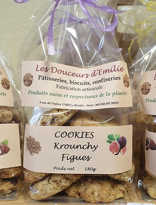 Cookies Krounchy figues 180g