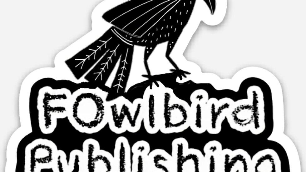 "FOwl Raven diecut sticker 3"" x 2.71"""