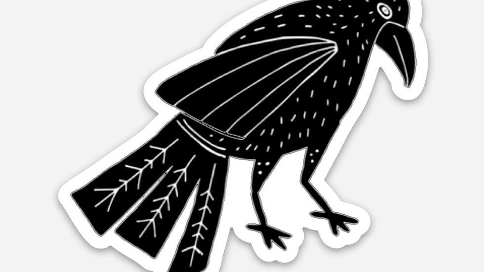 """Raven diecut decal 3"""" x 2.5"""""""