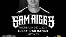 """Sam Riggs Joins Justin for Another """"Back Roads Conversation"""" December 2nd."""
