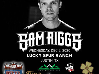 "Sam Riggs Joins Justin for Another ""Back Roads Conversation"" December 2nd."