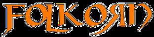 Folkorn-Schriftzug orange-Schwarz frei 2