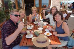 Im Café in Tihany