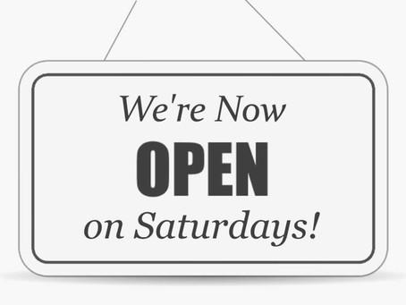 Saturday Clinic Open Again