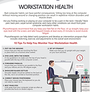 WORKSTATION HEALTH - ERGONOMICS FACT SHE