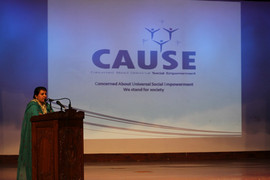 Social welfare minister at CAUSE event