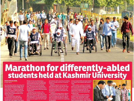 Jammu and Kashmirs 1st Marathon for differently-abled persons organized By CAUSE NGO