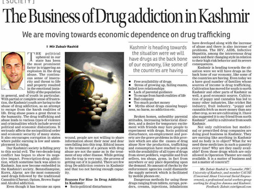 The Business of Drug Addiction in Kashmir.