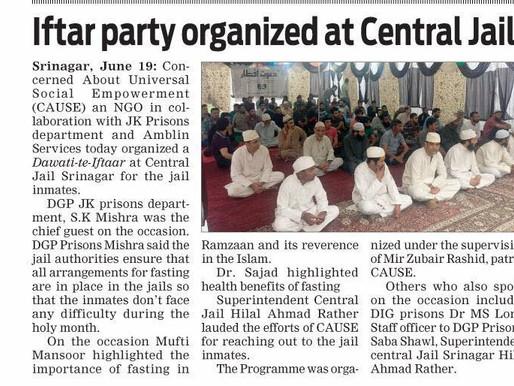 Jk Prisons Department, CAUSE NGO organise Dawati-ta-Iftaar at Central Jail