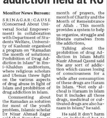 Ramadan, the month of solutions.