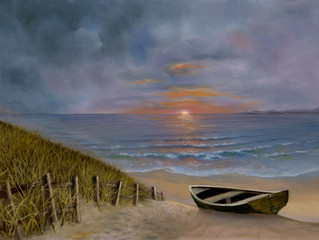 H. Hargrove has created two magnificent seaside paintings