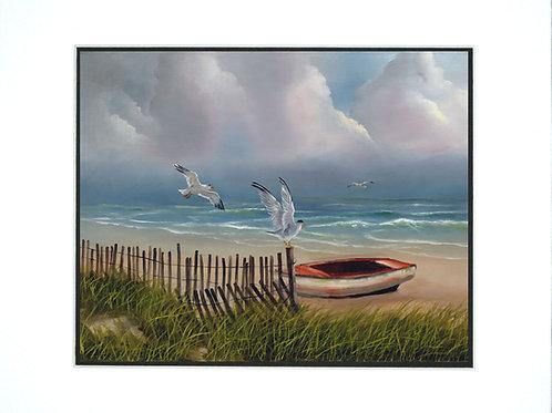 Coastal Seagulls- Mat Print