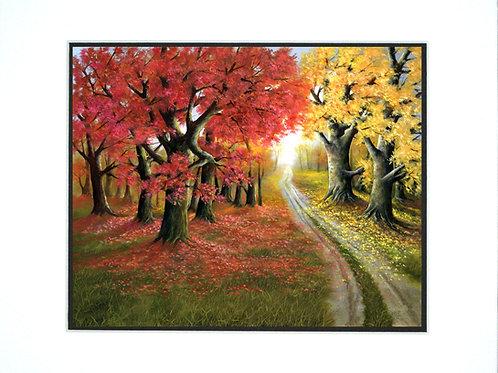 Autumn Splendor Mat Print
