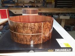 Cambridge Drums Burl Walnut Snare