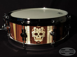Cambridge Drum snare Skull inlay