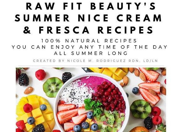 Summer Nice Cream & Frescas Recipe Ebook