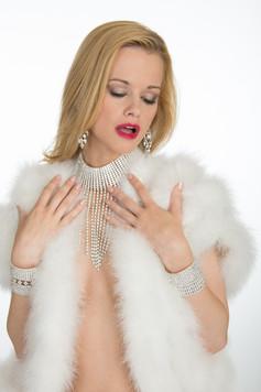 Bride with white fur