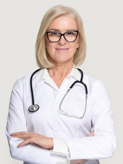 Business headshot of female doctor - Medford photography