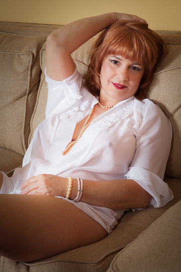 Boudoir photo in white shirt - by Oregon boudoir photographer, John Neilson