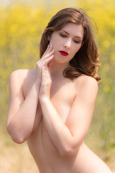Outdoor with red lips