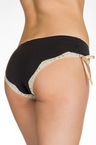 Black and ivory panty