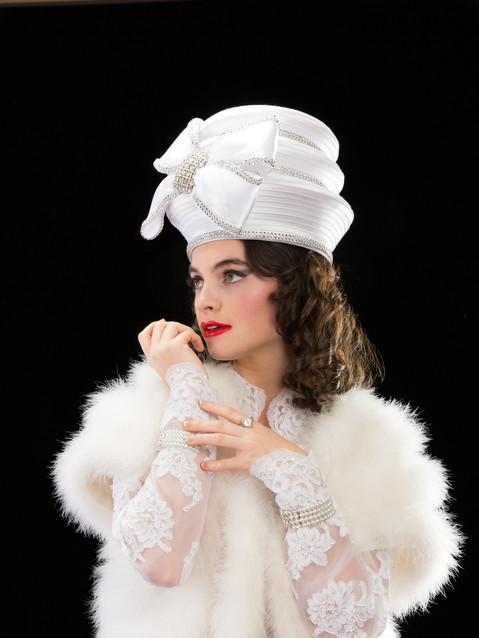 Photo of woman in white fur and hat - Medford photographer John Neilson