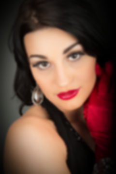 Woman with red gloves ad red lipstick - Medford photographer, John Neilson