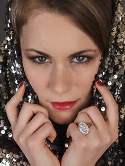 Headshot of woman with red lips - Medford photographer John Neilson