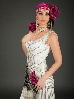 Creative photo of woman in white dress - Medford photographer John Neilson