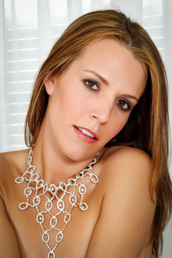 Bridal boudoir with necklace