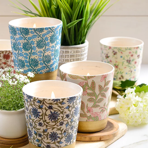 Floral Decal Candle