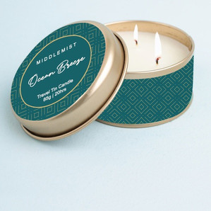 Gold Travel Tin Candle