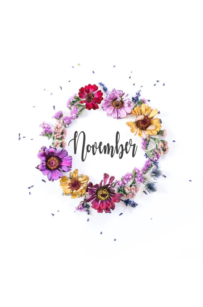 Happy November!!