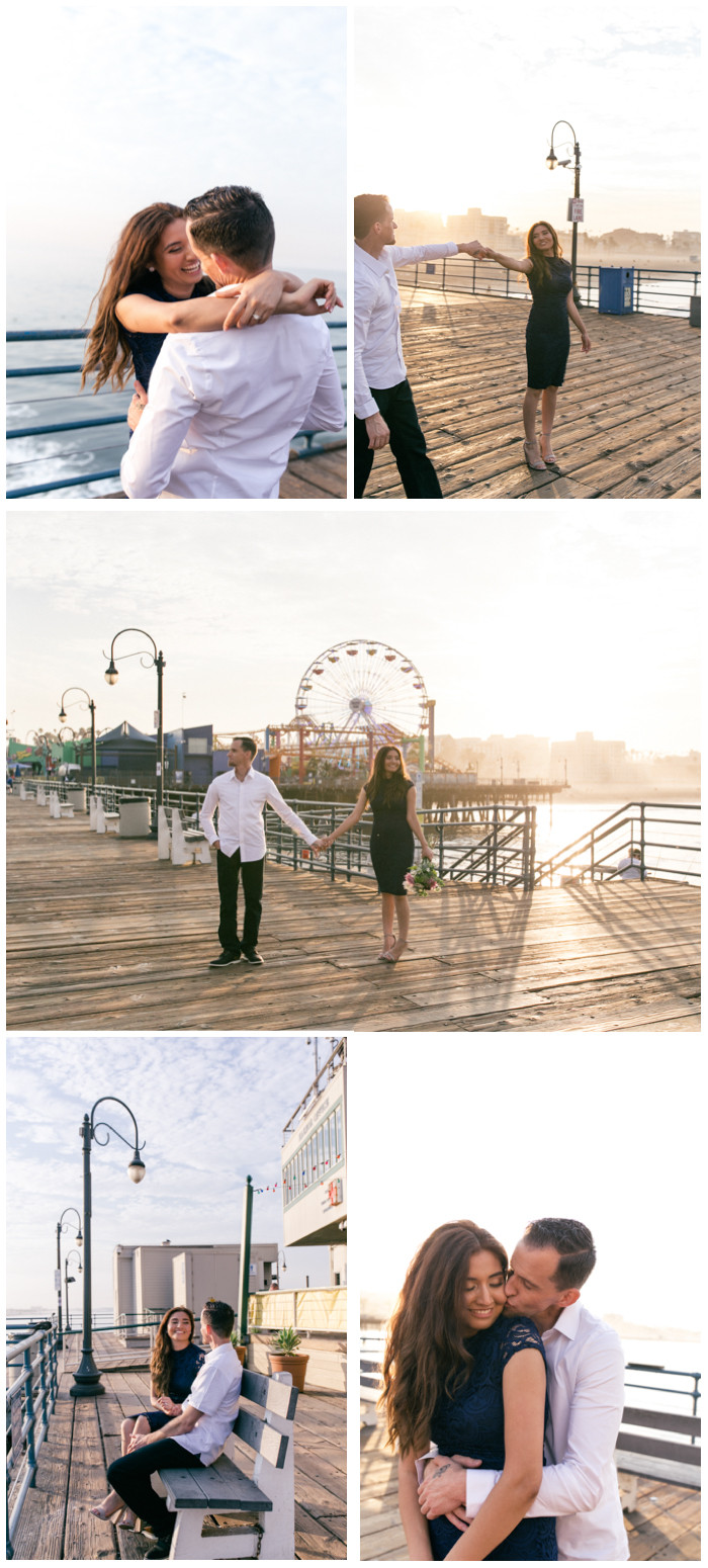 santa monica pier engagement