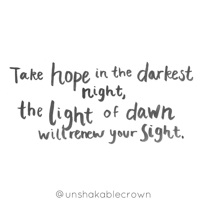 Hope for the Light of Dawn
