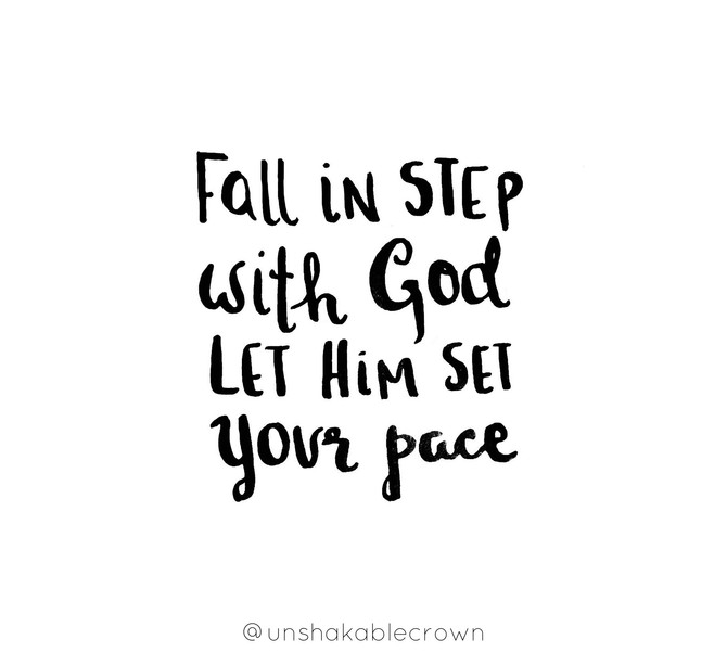 Even In Disappointment, Fall In Step With God