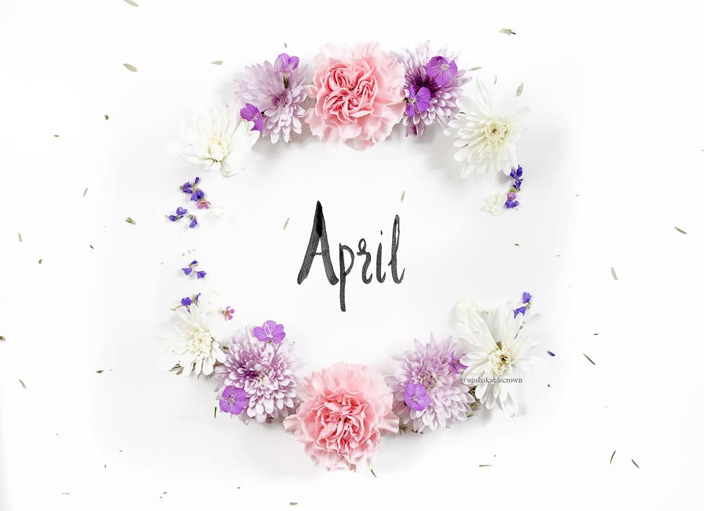 april flatlay