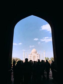 Taj Mahal từ xa