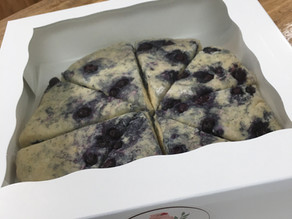 Take and Bake Homemade Blueberry Scones from JB Cakes, Sweets & Treats