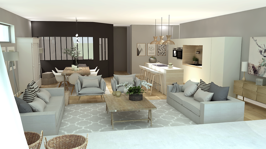 home staging virtuel, décoration d'intérieur, prestation à distance