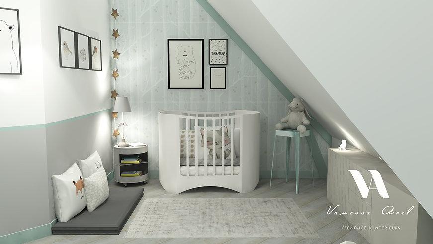 chambre d'enfant, décoration d'intérieur chambre d'enfant, prestation à distance